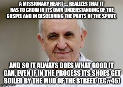 A missionary heart realizes that it has to grow...